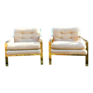 Mid-Century Modern Swaim Originals Designed by John Mascheroni Geometric Lounge Chairs - a Pair For Sale