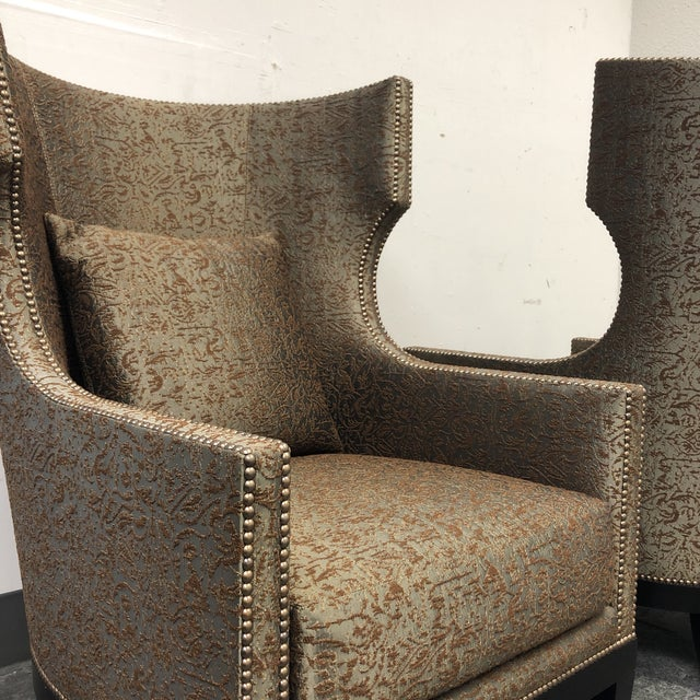 Ironies Tule Lounge Chairs- a Pair For Sale - Image 12 of 13