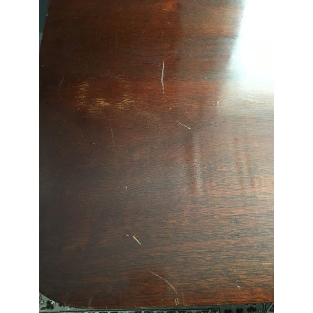 Antique Mahogany Drop Leaf Buffet Serving Cart - Image 10 of 10