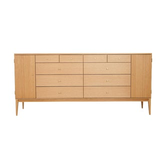 Trapp 20-Drawer White Oak Dresser