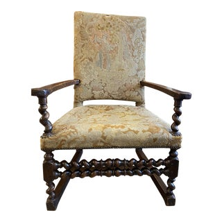 17th Century Tapestry Chair For Sale