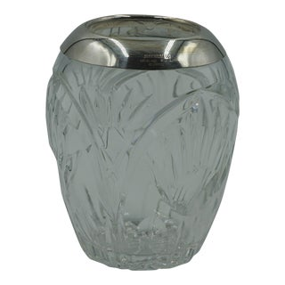 Argentium Co. Sterling Silver Capped Crystal Vase (1950) For Sale