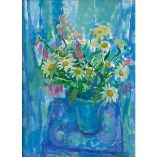 """Summer Flowers in Blue"" Print by Amy Griffith Colley For Sale"