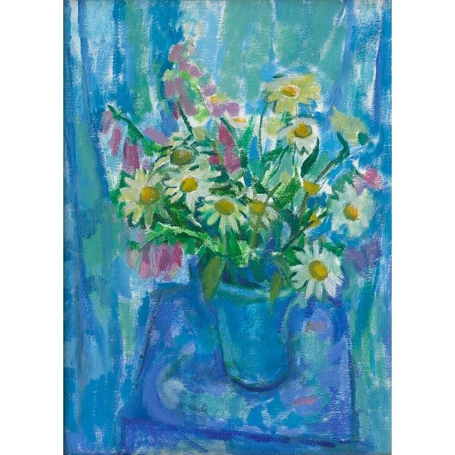 """""""Summer Flowers in Blue"""" Print by Amy Griffith Colley For Sale"""