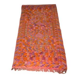 1980s Vintage Moroccan Berber Rug- 5′ × 9′ For Sale
