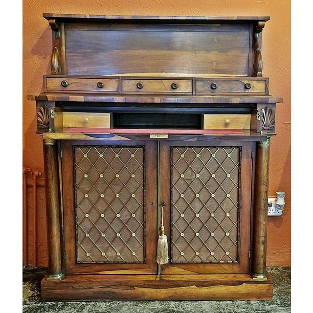 Late 18th Century 18c British Regency Bureau Secretaire Chiffonier in the Manner of Gillows For Sale - Image 5 of 13