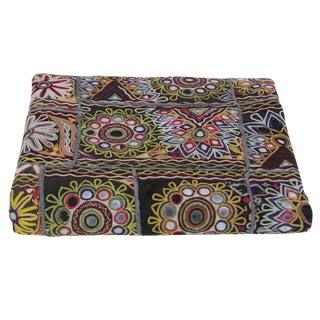 Mandala Mirrored Banjara Tapestry For Sale