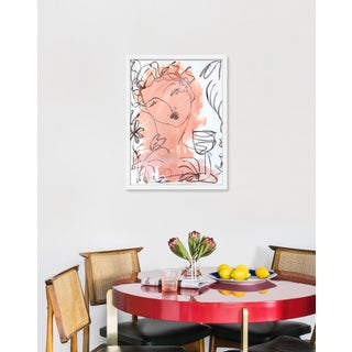 """Medium """"Flowers and Wine in Salmon"""" Print by Leslie Weaver, 19"""" X 24"""" Preview"""
