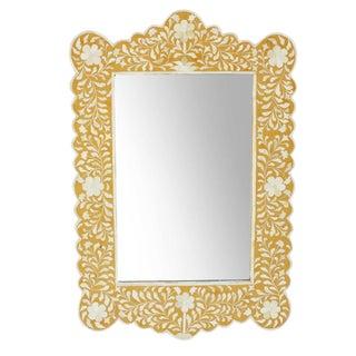 Hania Yellow Inlay Mirror For Sale