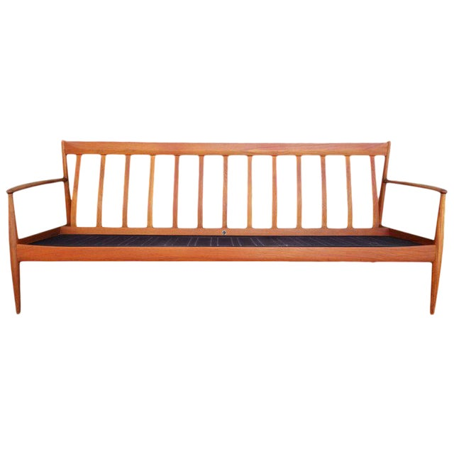 Teak Danish Modern Sofa by Grete Jalk For Sale