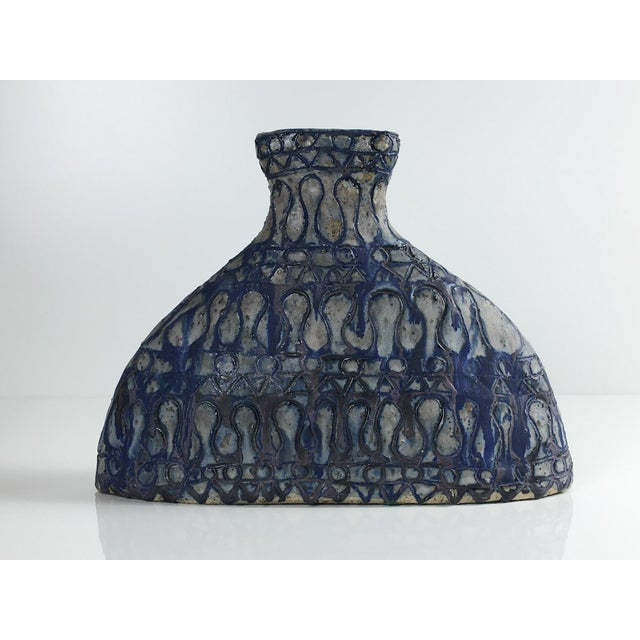 Blue Mid 20th Century Studio Pottery Vessel For Sale - Image 8 of 13