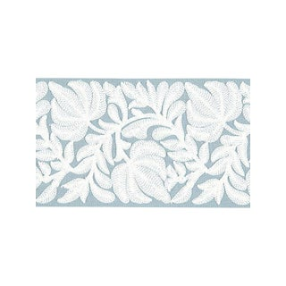 Scalamandre Coventry Embroidered Tape, Sky For Sale