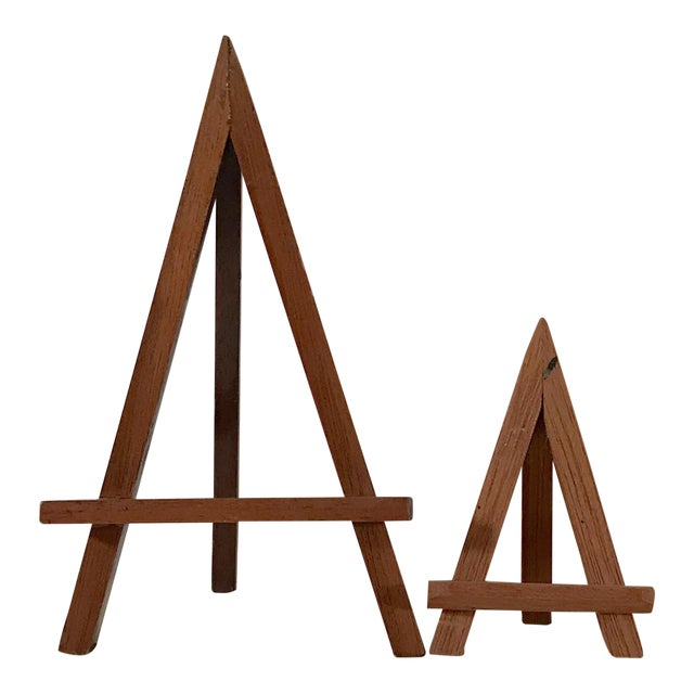 Modern Wooden Mini-Easels - a Pair For Sale