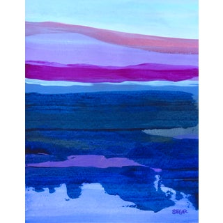 "Contemporary Landscape ""Ocean Color Study I"" Painting by Angela Seear, Small For Sale"