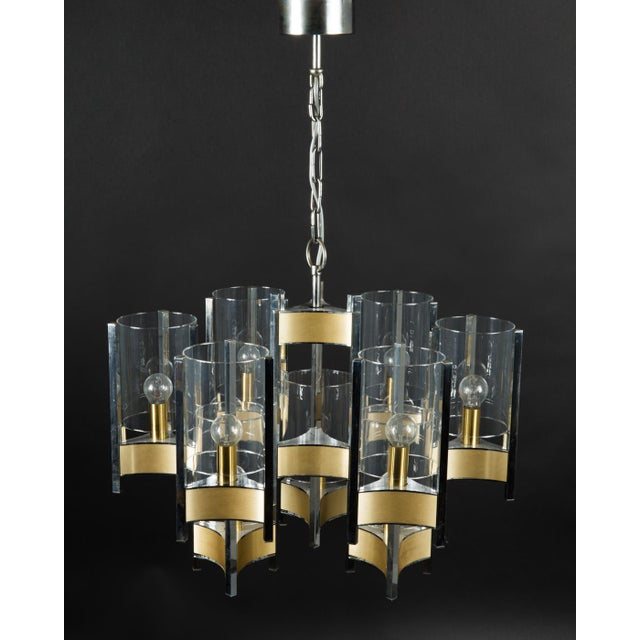 Hurricane Chandelier by Gaetano Sciolari For Sale - Image 6 of 11