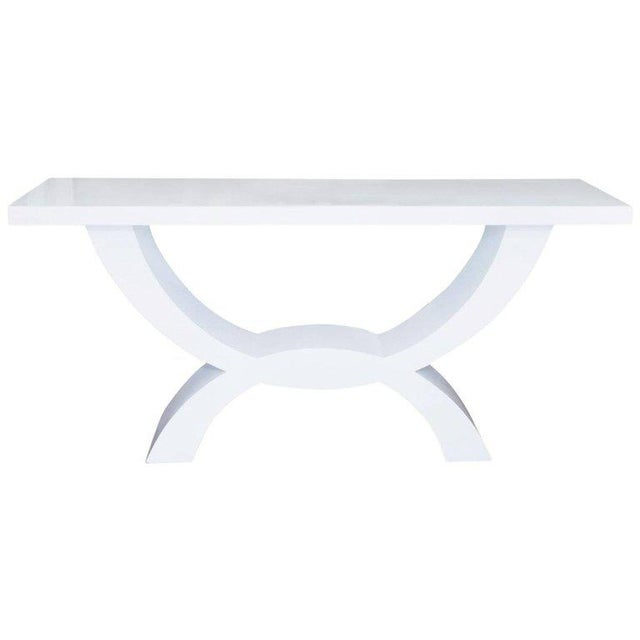 Custom Lacquered Console Table For Sale - Image 10 of 10