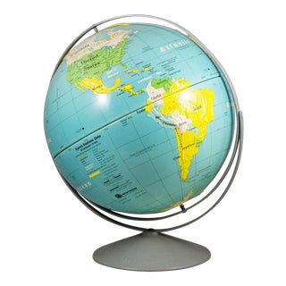 Nystrom Readiness Decorative Relief Globe For Sale