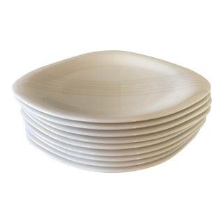 1990s Art Deco Villeroy & Boch Dune Lines Dinner Plates - Set of 9