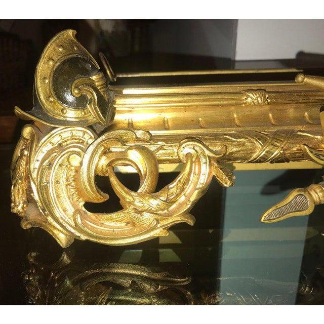 Late 19th Century Empire 19th Century Dore Bronze Jardinière or Planter Has Its Original Insert For Sale - Image 5 of 13