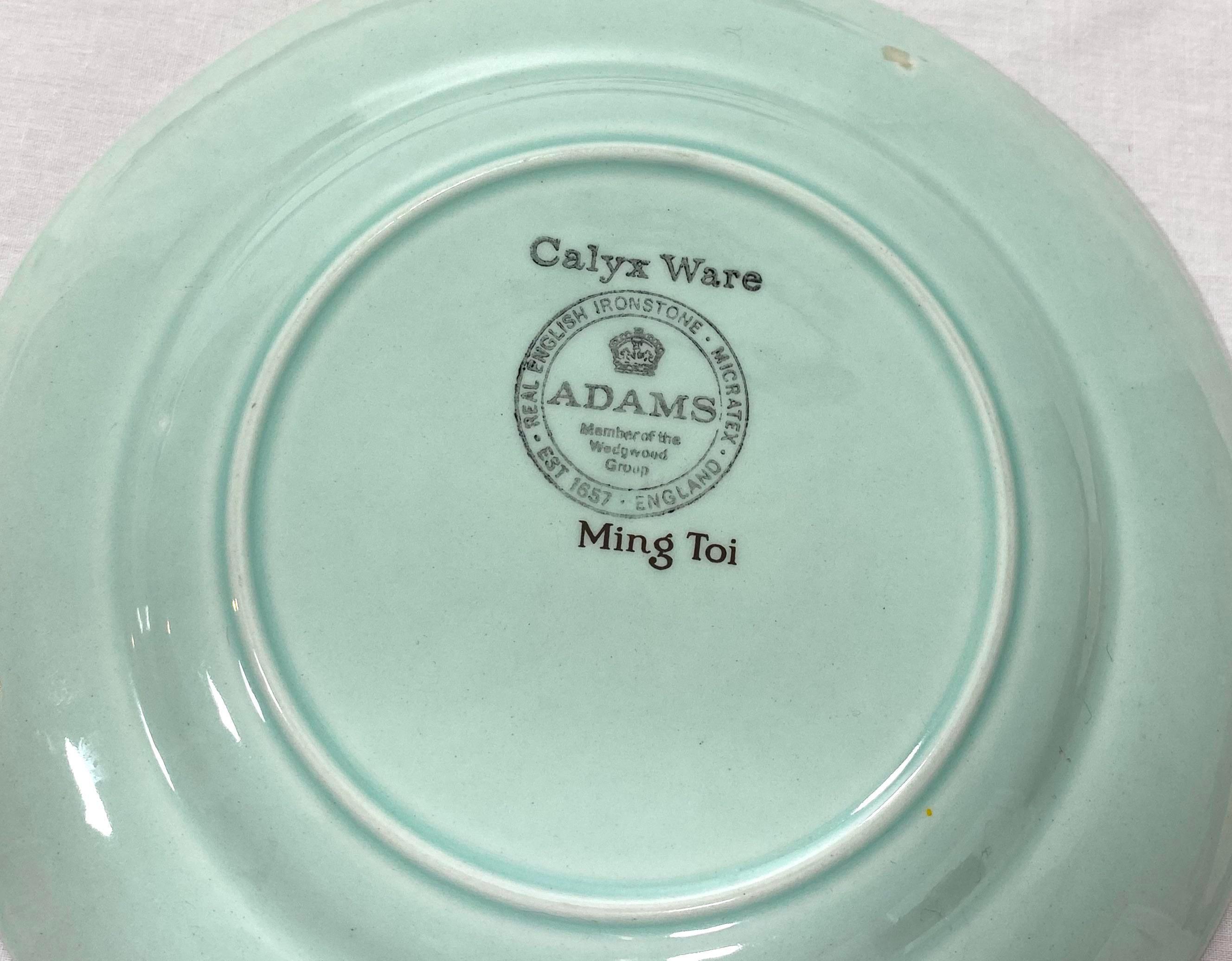 Adams Calyx Ware Ming Toi PLATO 26cm Diámetro hecho En Inglaterra 1968-vgcondtn