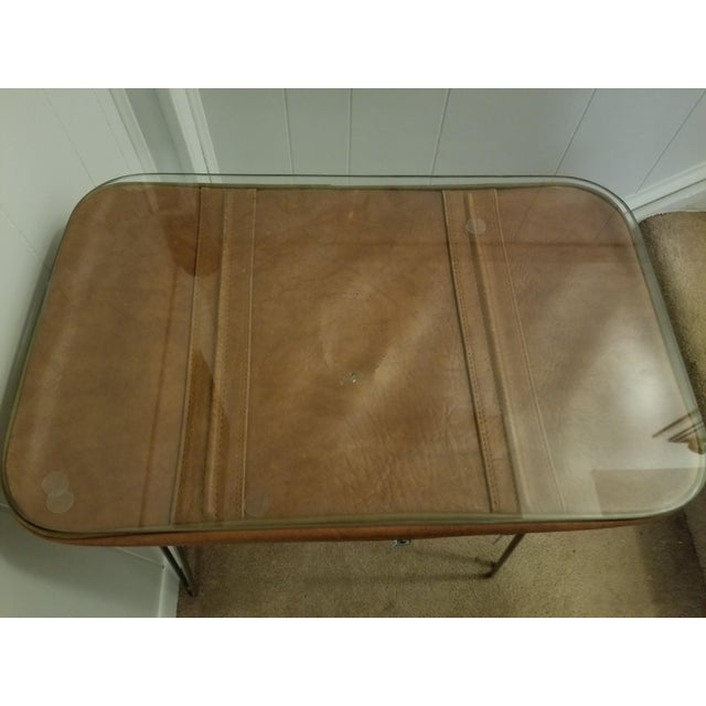 Vintage Suitcase Upcycled Side Table For Sale - Image 4 of 7