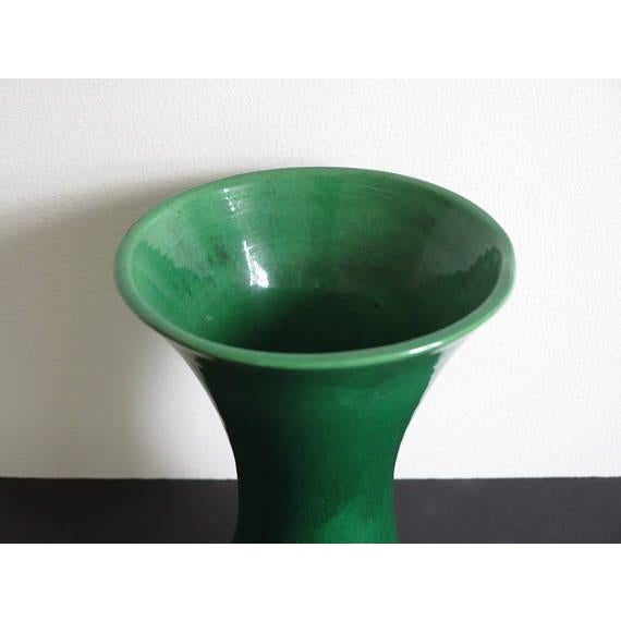 Japanese Late 19th Century Green Japanese Awaji Pottery Vase For Sale - Image 3 of 5