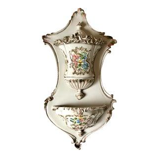 Vintage Mid Century Italian Ceramic Lavabo / Fountain For Sale