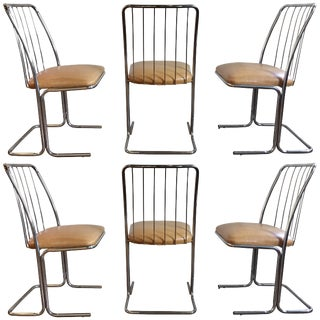 Mid-Century Modern Cantilevered Dining Chairs by Daystrom, Set of Six For Sale