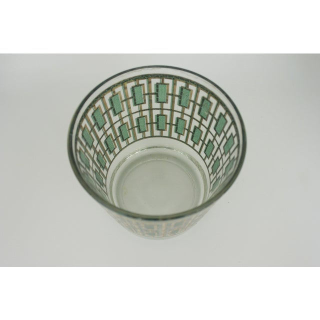 Vintage Culver Green and Gold Ice Bucket - Image 6 of 6