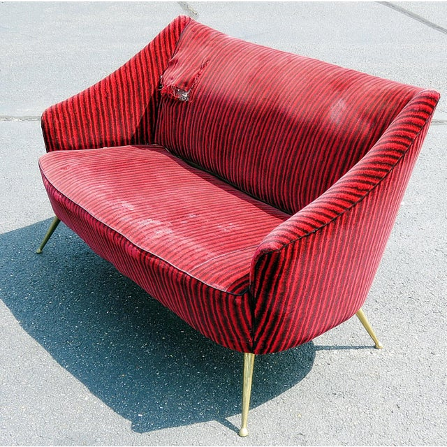 Italian Gio Ponti Style Settee For Sale - Image 11 of 11