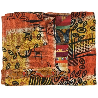 Colors of Autumn Vintage Kantha Quilt