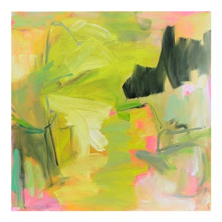 """""""Florida Sunshine"""" by Trixie Pitts Abstract Expressionist Oil Painting For Sale"""