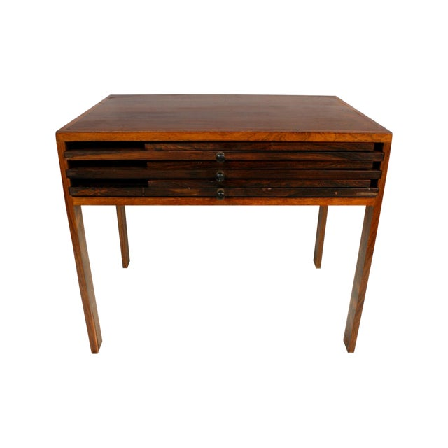 Rosewood Illum Wikkelso Danish Folding Tables Set - Image 1 of 5