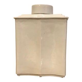 Blanc de Chine Tea Jar For Sale