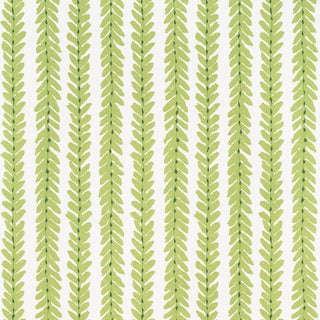 Sample - Schumacher X Veere Grenney Woodperry Wallpaper in Green For Sale