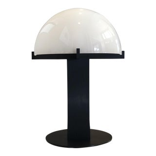 1980s Ron Rezek Brushed Metal Sculptural Dome Table Lamp For Sale