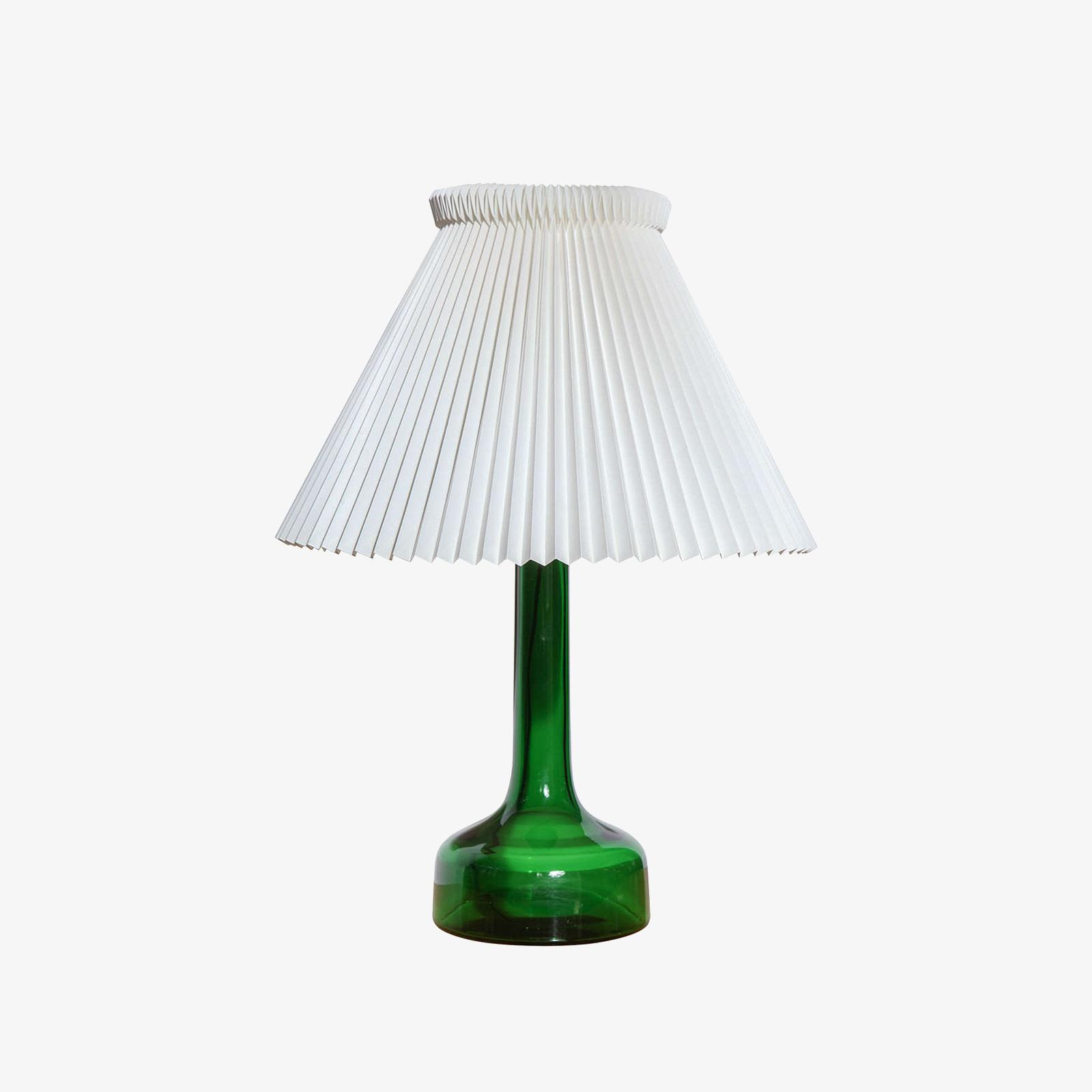 Superior Gunnar Biilmann Petersen Le Klint Green Glass Table Lamp
