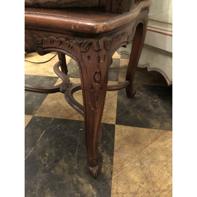 Wood French Caned Chairs - a Pair For Sale - Image 7 of 11