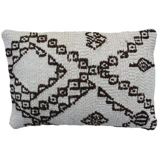 Berber Pillow W/ X & Diamonds Pattern For Sale