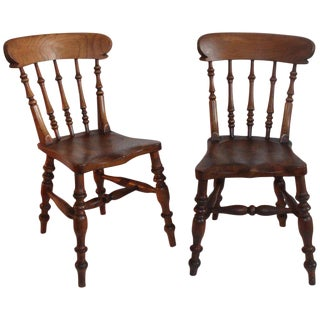 19th Century English Side Chairs - a Pair For Sale