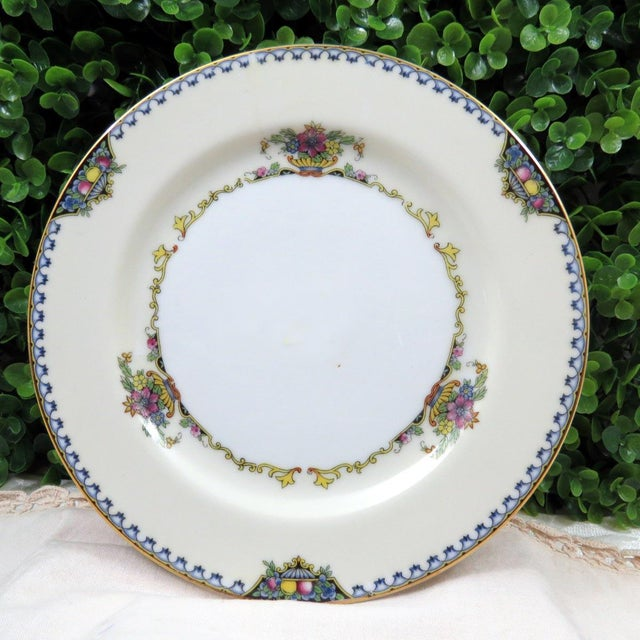 """Mismatched Vintage 8"""" Dessert Plates - Set of 4 - Image 6 of 7"""