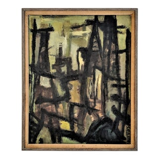Abstract Oil Painting on Canvas by Samuel Marcus Adler