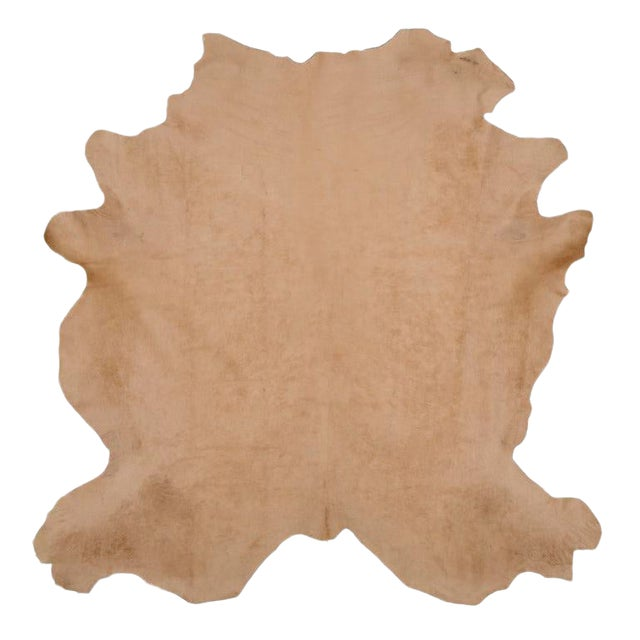 Light Beige Cow Hide Rug - 7′ × 8′ For Sale