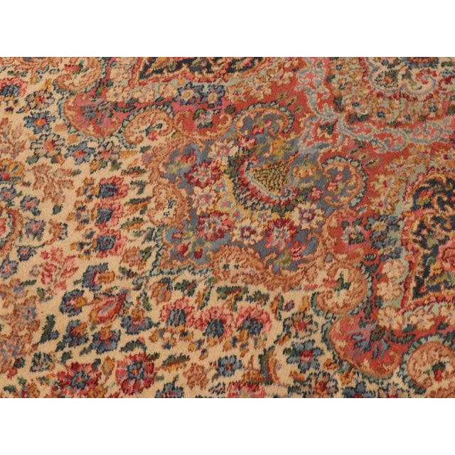 "Blue Late 20th Century Karastan ""Kirman"" Persian-Style Wool Rug-11′5″ × 20′ For Sale - Image 8 of 13"