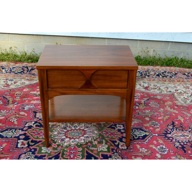 1960s Mid Century Modern Walnut and Rosewood Perspecta Night Stand by Kent Coffey For Sale - Image 10 of 12
