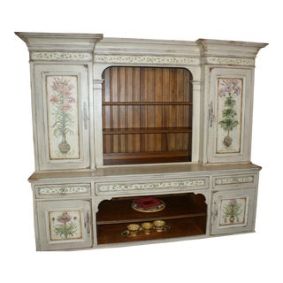 Habersham Hand Painted Hutch For Sale