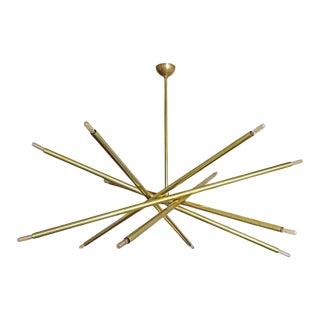 Gallery L7 Brass Spiral Chandelier 'Xl-6' For Sale