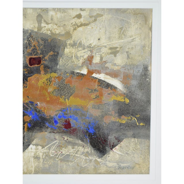 Abstract Modernist Abstract Forms Oil Painting #2 by Canadian Artist Patrice Beckerich For Sale - Image 3 of 9