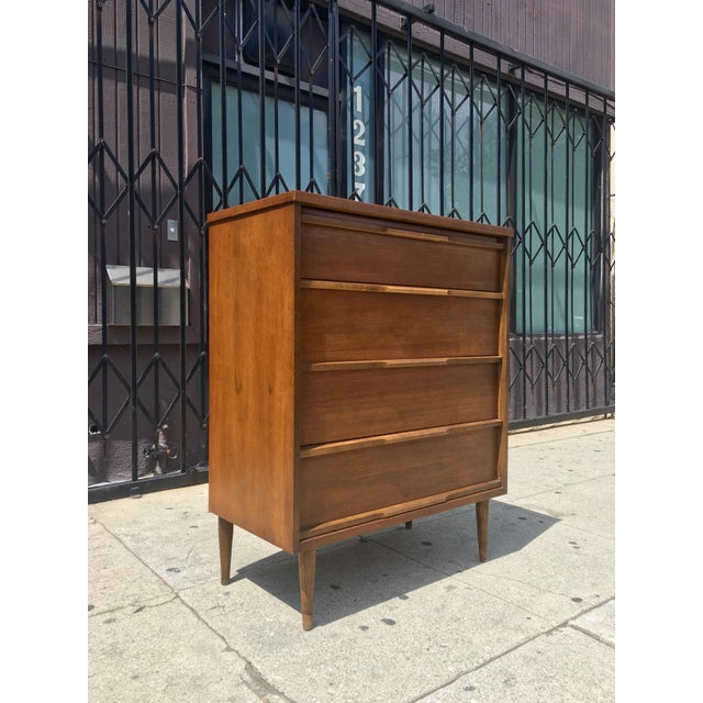 Mid-Century Highboy with Sculpted Pulls - Image 4 of 10