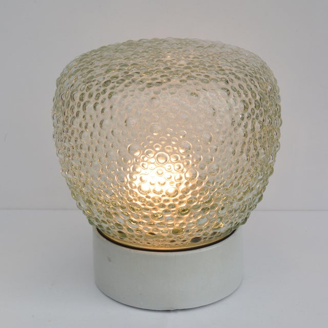1970s Large Glass Outdoor Wall Lamp, Germany For Sale - Image 10 of 13